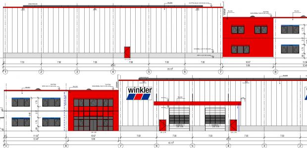 Elektroauftrag für den Neubau einer Lagerhalle mit Büro- und Sozialtrakt der Fa. Winkler